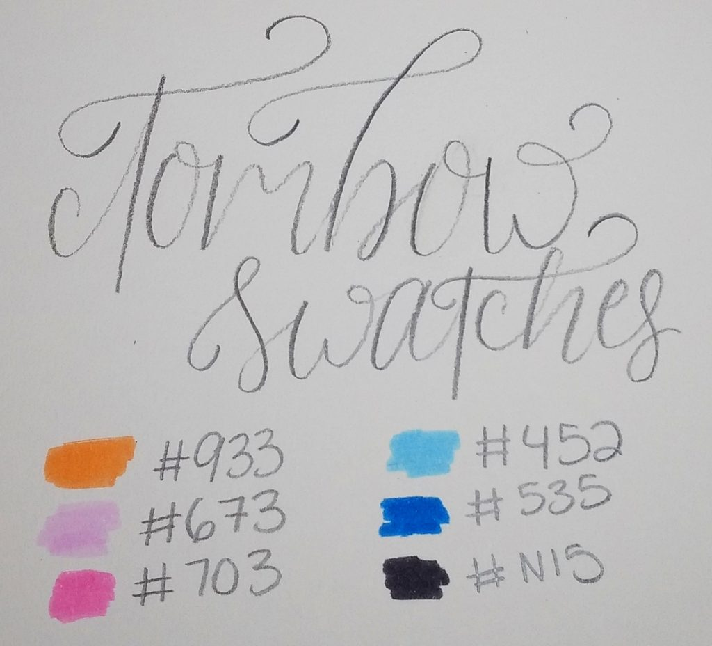 Tombow Dual Brush Pens Swatches