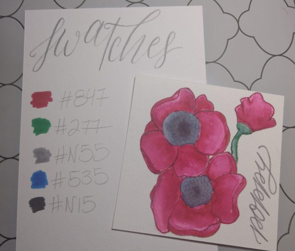 Poppy Flower Swatches